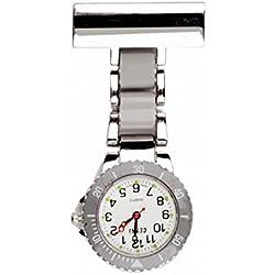 Censi 2 tone - Grey & Metal Nurses Medical Doctors Fob Watch