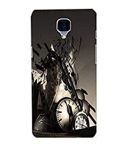 ONE PLUS 3 CLOCK Back Cover by PRINTSWAG
