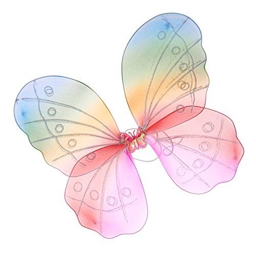 Tanz Kostüm Farbwechsel - LOVIVER Farbwechsel Elfenflügel Feenflügel Schmetterlingsflügel Mädchen Kostüm Zubehör für Cosplay Party Themenparty und Karneval