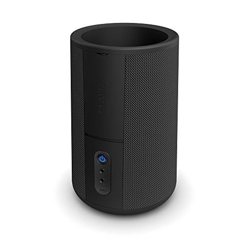 Hobson Amazon Alexa Echo Dot (Gen 1 and 2) 360 con Bandeja de Acoplamiento, Recargable y Batería Portátil, 20 Horas de Portabilidad Sobre la Marcha, AUX-IN MP3, AUX-out (Negro)