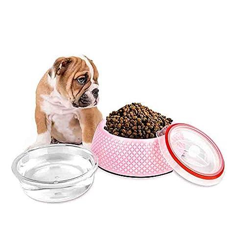 Sanzang 2-in-1Fressnapf, Stall, Haustiernapf, dicht, für Kätzchen, Futter-/Wasserschüssel