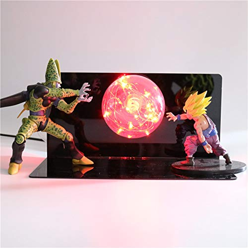 Figuras De Acción Super Z Goku Diy Led Creative Night Light Bedroom Toys For Boys Gifts Lamp Anime Model Lights Dragon Ball Light