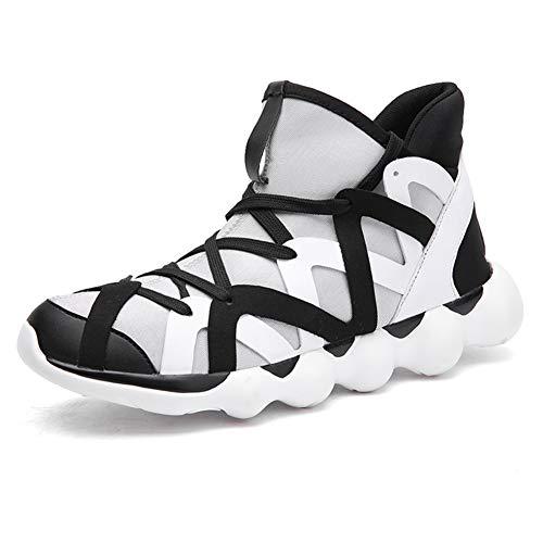 Mens Sneakers Laufen, Sportschuhe Turnschuhe Fitness Casual Sport Walk Gym Jogging Sportliche Turnschuhe Gym Casual Tennis Walking Schuh,White,47 -