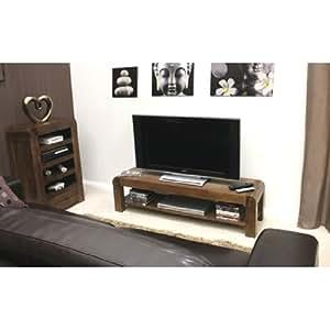 shiro walnuss low tv schrank cdr09 a k che haushalt. Black Bedroom Furniture Sets. Home Design Ideas
