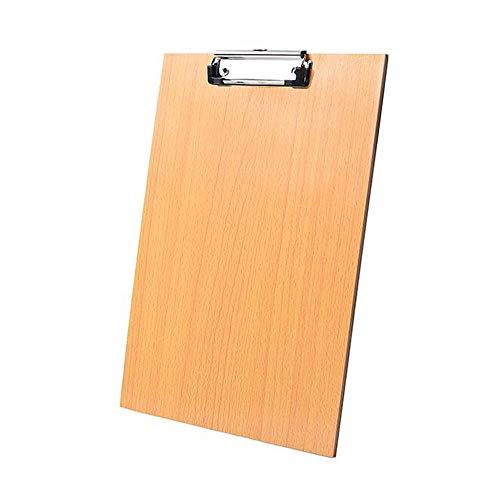 GLQ Schreibblock-Clip - Datei-Papierbinder-Organizer - Langlebiger/polierter Metallclip mit Stabiler langlebiger Feder-Einziehbare Aufhängeöse