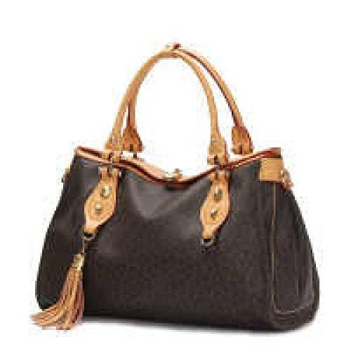 PACK Borse Borse Medioevo Ladies Borsa Bag Cuscino Plaid Semplice,Brown Brown