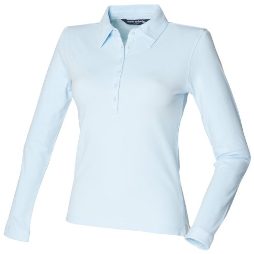 Skinni Fit - Polo à manches longues - Femme Blanc
