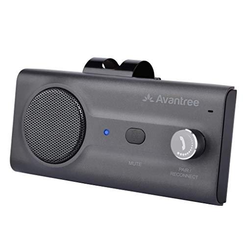 Avantree CK11 Kfz Bluetooth Freisprecheinrichtung Freisprechanlage Car-Kit für Sonnenblende, Lauter Lautsprecher, Siri Google Assistant Unterstützung, Lautstärkeregler, Bewegung Auto AN - Titan