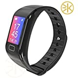 3Keys™ Smart Fitness Band Tracker With Blood Pressure Oxygen Heart Rate Monitor Smart Tracker Waterproof Bluetooth Smart Bracelet With GPS Fitness Tacker For IOS Android Devices With Colour Display