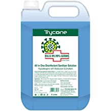 Trycone All in One Instant Disinfectant Sanitizer Solution (Kills 99.99% Germs) with 70% Alcohol, Hypoallergenic with Moisturizer & Emollient - 5 Litre