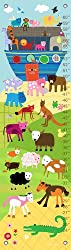 Oopsy Daisy Growth Charts Noah s Ark and Animals by Lesley Grainger, 12 by 42-Inch