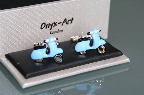 Diseño gemelos hombre - Vespa Blue patinete diseño