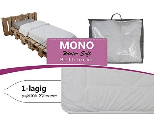 erstklassiges Steppbett MONO für erholsamen und gesunden Schlaf - geprüft nach Öko-Tex Standard 100 - erhältlich als Ganzjahresbettdecke in 3 verschiedenen Größen, 200 x 200 cm