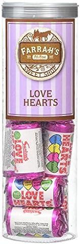 Farrah's of Harrogate Love Hearts Clear Tube (Piece of