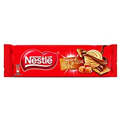 2 de Nestlé Chocolate con leche extrafino relleno de dulce de leche y trozos de cereal tostado - 240 gr