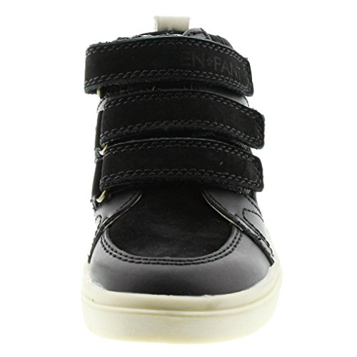EnFant Mixte, Sneakers à Scratch, Cuir 00 Black