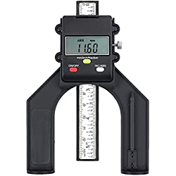 KamtopProfondimètreNumériqueJaugedeHauteur80mm/3.14inavecBatteriePrécisionde0.10mm/0.004inavecFonctionABS/INCMesuredeHauteur/ProfondeurpourMenuiserieBoisScieàTable
