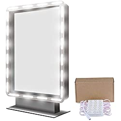 Binen Hollywood Style Mirror LED Light, 9.8FT Vanity Mirror Lights Kit Dressing Table Light with Power Supply and Touch Dimmer Switch (Mirror Not Included)