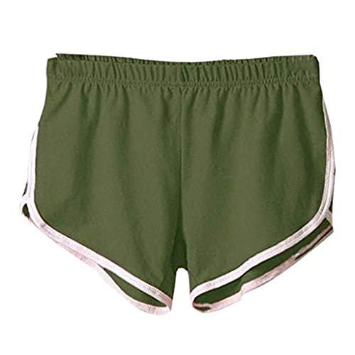 horts Sommer Hotpants Bermudas Ultra Jeans Leggings Strand Laufgymnastik Yoga Der Sporthosen Schlafanzughosen - Einfarbig Mid Waist Loose Elastic Waist Shorts ()