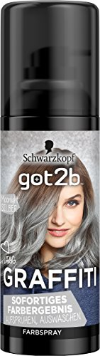 Got2b Moonlight Silber Graffiti Spray Haarfarbe, 3er Pack(3 x 120 ml) (Silber Haar Spray)