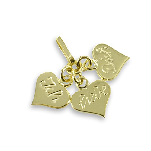 Herzen Anhänger mit Gravur: Ich-Liebe-Dich aus 333 echt Gold