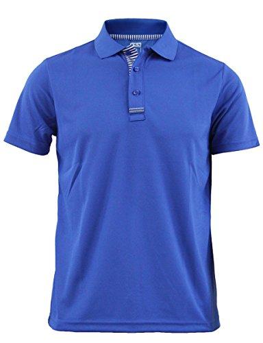 BCPOLO M?nner Casual Funktionspoloshirt Coolon Stoff kurzen ?rmeln Shirt.-blue XS (Blau Langarm-uniformhemd)