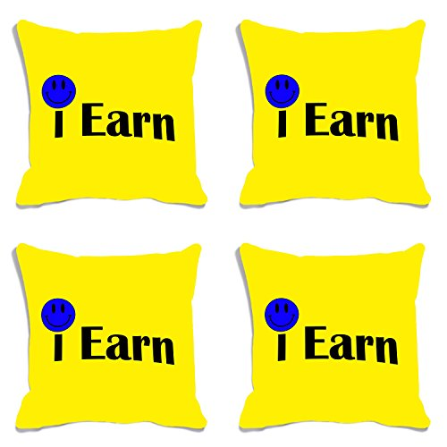 meSleep Kissenbezug Set von 4 Stück Digital Gedruckt Verdienen Dekorative Wohnzimmer Polyester Bettwäsche Dekokissen Fall 12