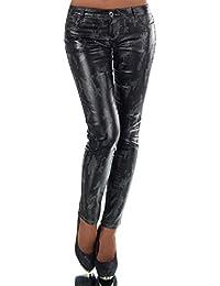 Fashion BOUTIK Pantalon Simili Cuir Brillant imprimé Militaire Camouflage  Femme Sexy 34 36 38 ... ac42f4e5b19