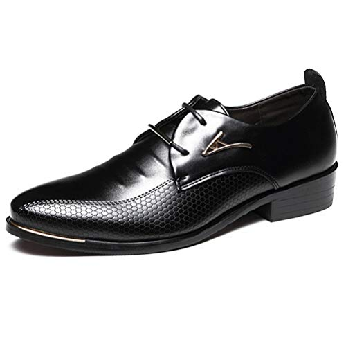 Qianliuk Männer Kleid Schuhe Mode Spitz Schnürschuh Männer Business Casual Schuhe Komfortable Leder Halbschuhe