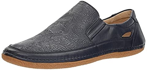 Stacy Adams Men's Napa-Moc Toe Slip-on Oxford, Navy, 14 M US
