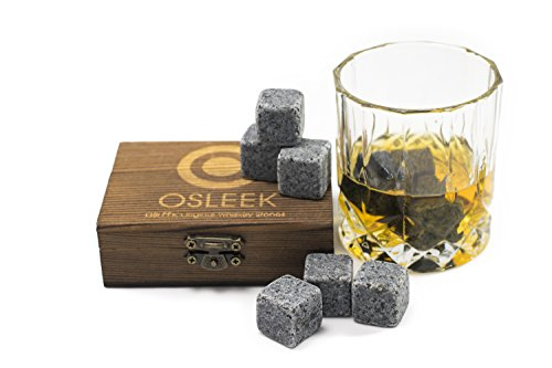 Whiskey Steine-Set von 9reine Speckstein Getränke Eisig Rocks-hält Ihr Getränk Ice Cold und kein Wasser Dilution-Gespeichert in einer Geschenkbox, Samtbeutel enthalten für Kühlanlage