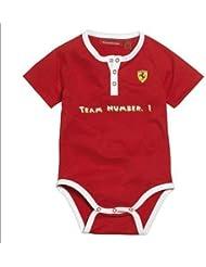 Body bebé Team 1 Ferrari rojo talla 2-4 meses