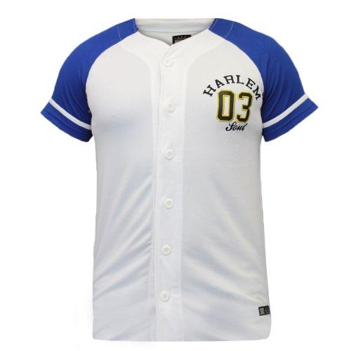 Brave Soul Herren T-Shirt Schwarz Schwarz Schwarz - White - Blue