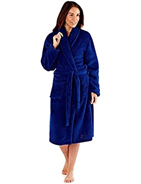 Donna Soft Feel Honeycomb collo a scialle Accappatoio Robes Wrap LN529