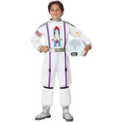 Atosa Disfraz de astronauta para niño, talla 7-9 años (16014)