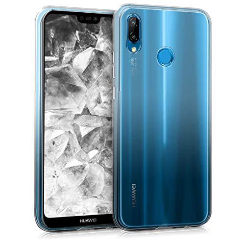 Preisvergleich Produktbild kwmobile Huawei P20 Lite Hülle - Handyhülle für Huawei P20 Lite - Handy Case in Zwei Farben Design Transparent Schwarz