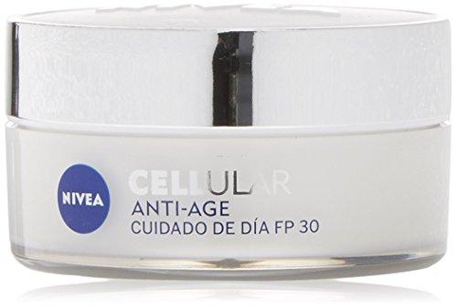 NIVEA Hyaluron Cellular Filler, crema hidratante de día, crema antiarrugas con ácido hialurónico, crema antiedad con factor de protección 30