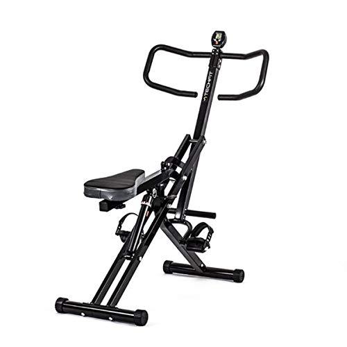 Máquina de Ejercicios TechFit AllCrunch, Bicicleta Doble, Entrenador de Ejercicios de Entrenamiento Corporal Total, Plegable, para Tonificar Piernas, Espalda, Brazos, Glúteos y Abdomen