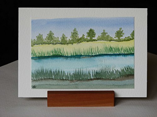 Postkarte + Briefumschlag / Landschaft No 17 / Unikat / Aquarellkarte