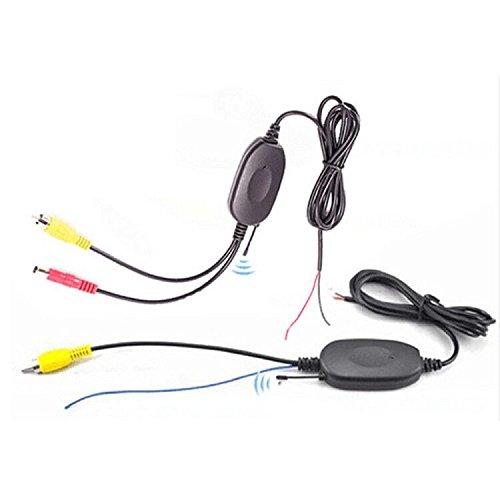 Kalakass 2.4GHz Wireless Video Rückfahrkamera RCA Video Sender Empfänger Kit für Auto Rückfahrkamera Monitor Empfänger Cam DVD GPS Autoradio Player Modul Adapte Trigger