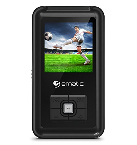 Ematic em208vid - Player und Rekorder MP3/MP4 (MP4-Player, 8 GB, CSTN, USB 2.0, Radio FM, Schwarz) (Ematic Mp3-player)