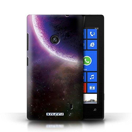 Kobalt® Imprimé Etui / Coque pour Nokia Lumia 520 / Planète Jaune conception / Série Cosmos Éclipse Pourpre