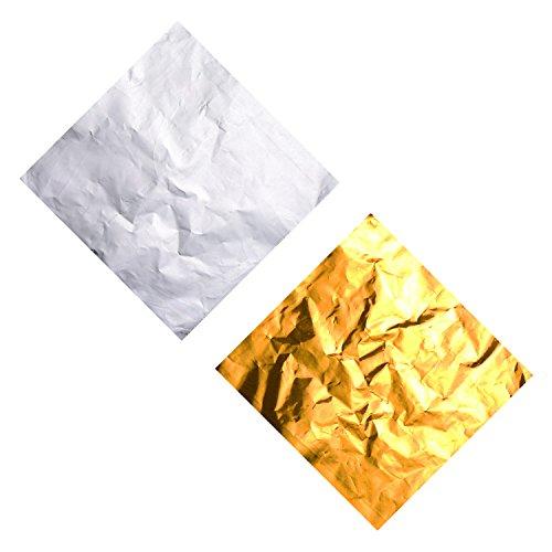mfolie Candy Wrapper 4 x 4 Zoll Schokolade Wrapper für DIY Süßigkeiten und Schokolade Verpackung, Gold und Silber (Gold Wrapper, Candy)
