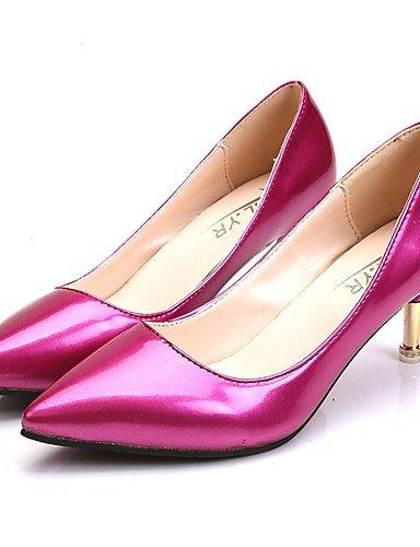 GS~LY Da donna-Tacchi-Casual-Tacchi-A stiletto-PU (Poliuretano)-Nero / Rosso / Bianco / Argento / Borgogna black-us7.5 / eu38 / uk5.5 / cn38