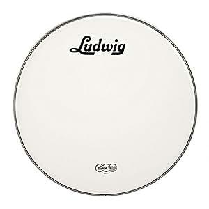 Ludwig Lw4222V vintage Logo 55,9cm Blanc Tête de résonance de grosse caisse avec logo Noir