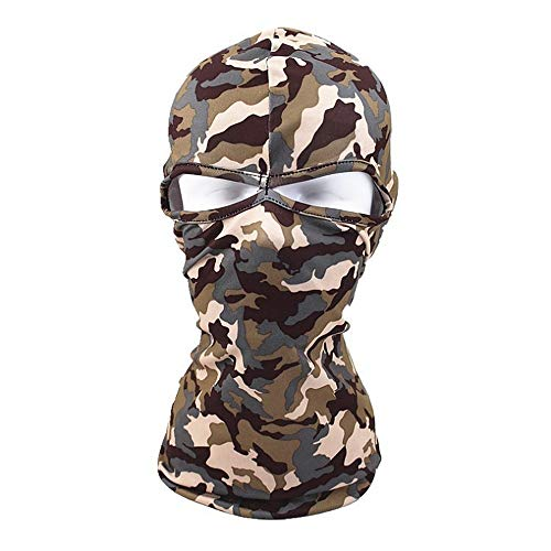 Motorradhelm Camouflage Windproof Balaclava Ski Maske Kalte Wetter Gesichtsmaske Motorrad Halswärmer Balaclava Hood Ultimative thermische Retention im Freien Super komfortable hypoallergene Feuchtigke -