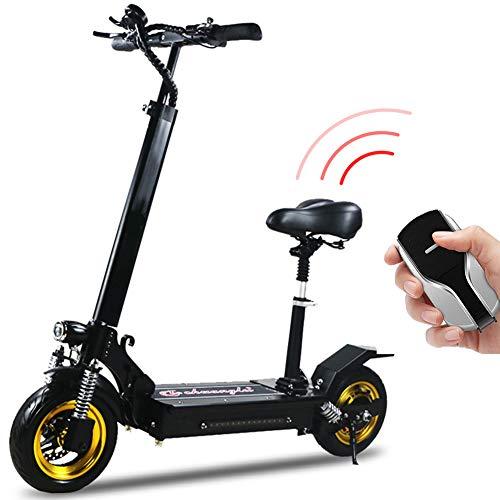 """HOPELJ Elektroroller - 10"""" Vakuumreifen - Bis zu 45km / h mit Einbruchalarm und USB-Aufladung, Tragbarer Falten E-Scooterfür Erwachsene mit Tempomat,100km(26AH)"""