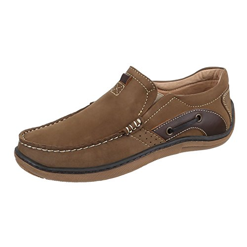 Schuhe Herren 1505 Mokassins Halbschuhe Leder Camel 8ddxwrq