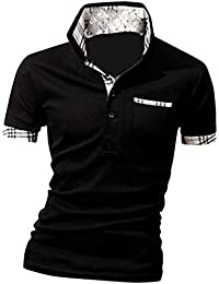 MQ Homme Polo Shirts Manche Courte Casual T-Shirt Mode Mince Fit Chemise Tee Tops