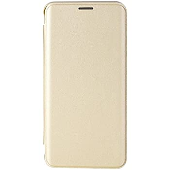 For Samsung Galaxy J7 2016 ( New 2016 Edition ) / J7 - 6 Flip Cover Case Premium Synthetic Leather Golden By Scudomax™